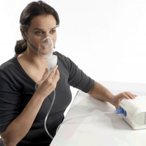 Means for inhalation by coughing