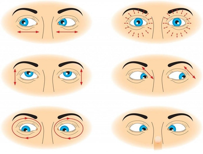 Simple exercises for eyes